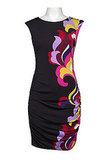 Ruched Side Printed Jersey Dress!!
