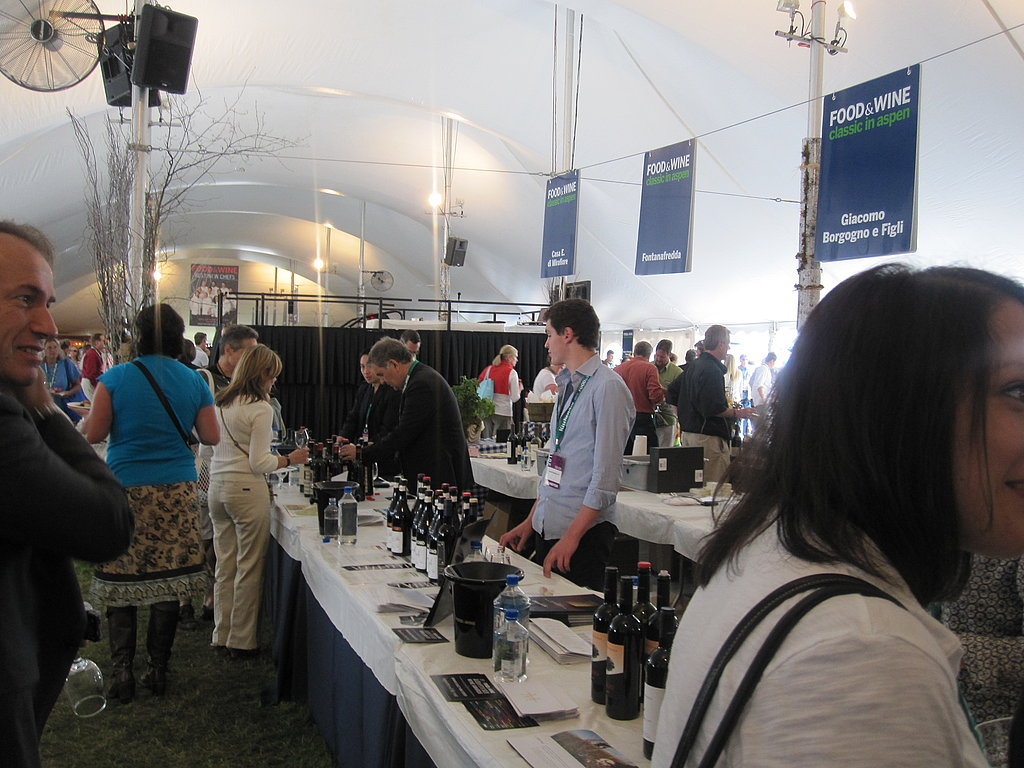 Another view of the tents. It's somewhat overwhelming: all the people, food, and wine!