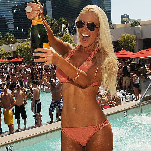 Heidi Montag Orange Bikini Pictures in Vegas