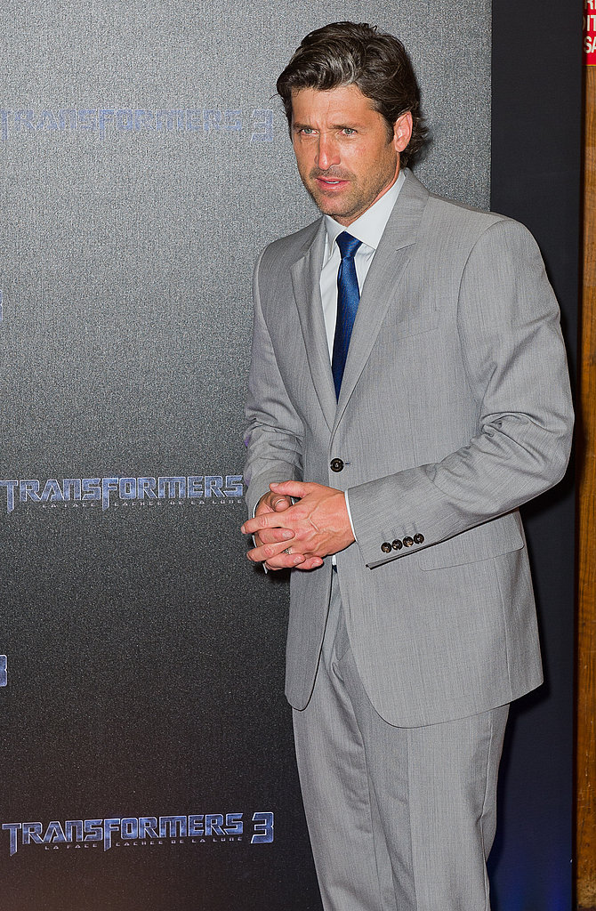 Patrick Dempsey looks cute in a suit.
