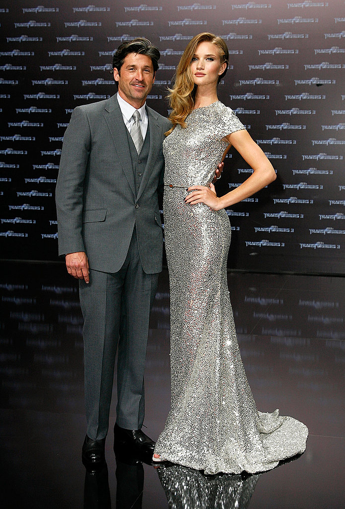 Rosie Huntington-Whiteley and Patrick Dempsey pose in Berlin.