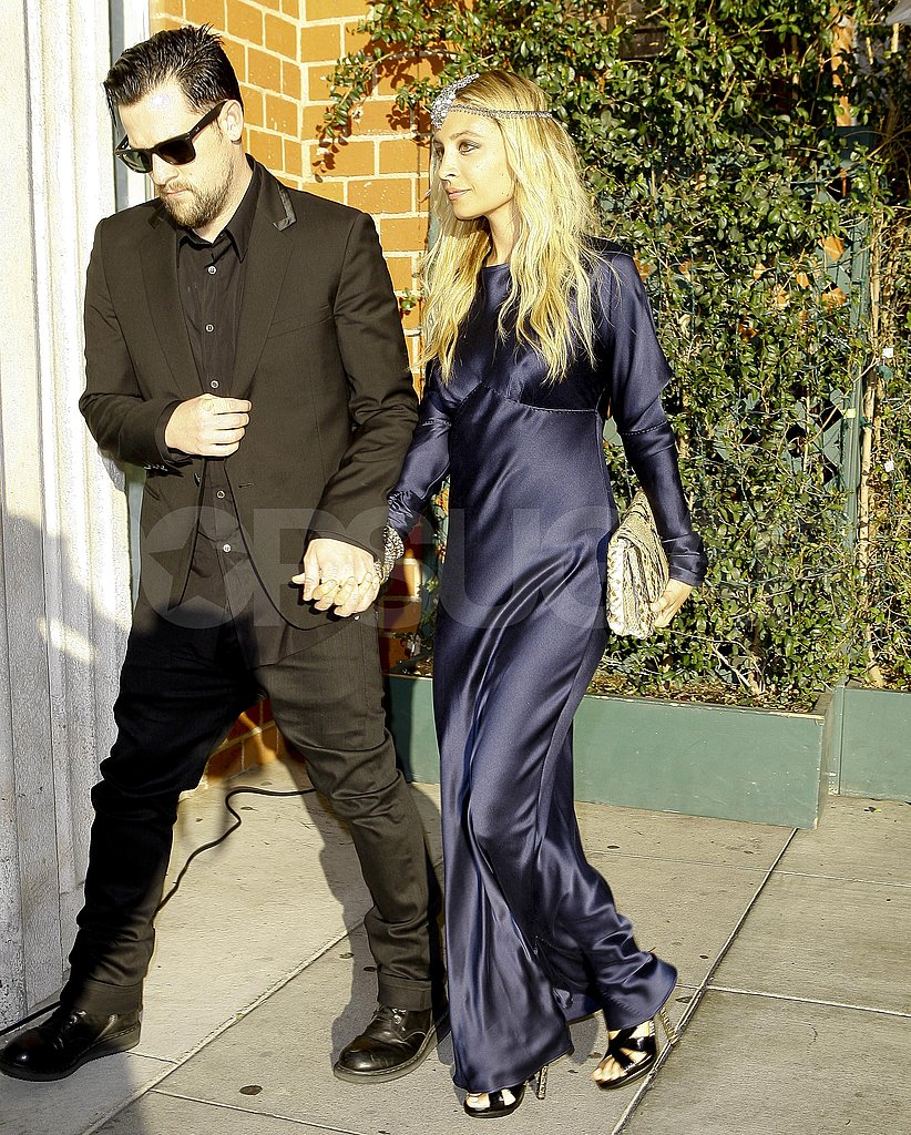 Nicole Richie and Joel Madden heading to Katherine Power's wedding.
