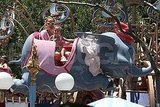 Jennifer Lopez with daughter Emme Anthony at Disney's Dumbo ride.