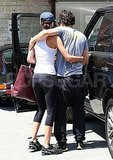Orlando Bloom and his wife Miranda Kerr show PDA.