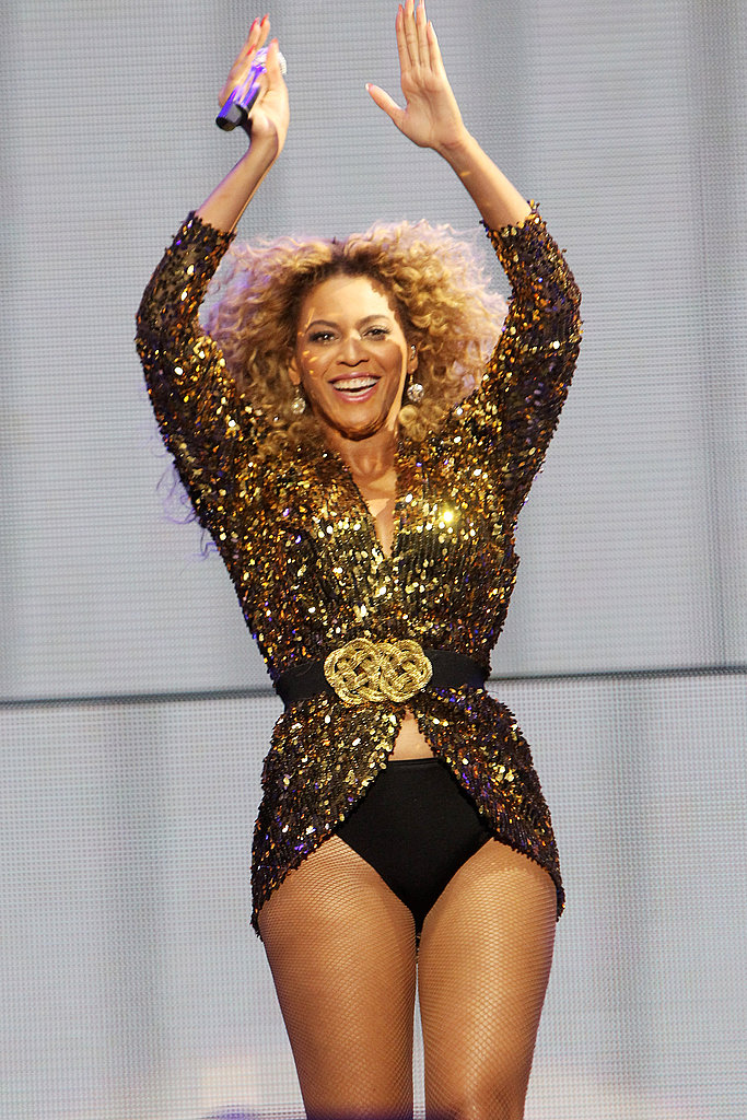 Beyonce Knowles in hot pants.