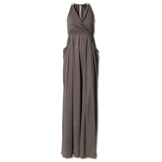 >> This elegant, vaguely Grecian gown is elevated further with a touch of red lipstick and neutral, snake-skin accessories. Theory Look 14 by Kate Lamphear Dress, $265 Looks chic with: