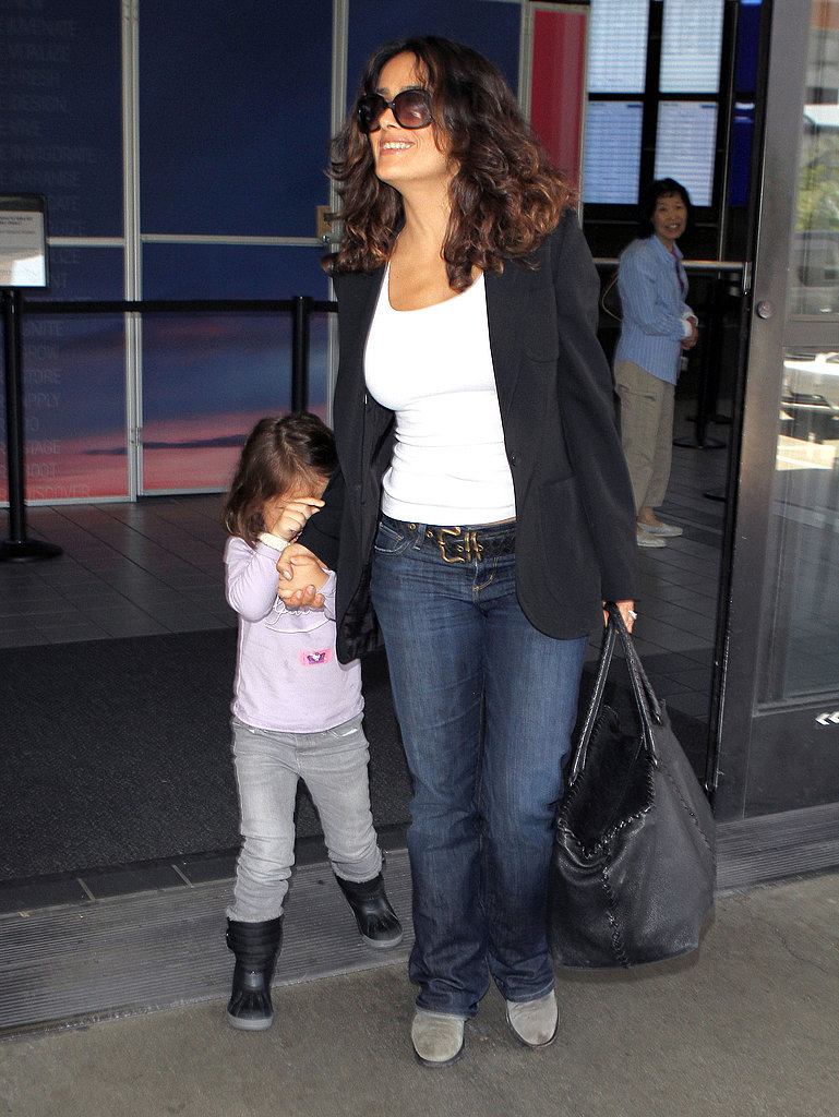 Salma Hayek Lands Hand in Hand With Valentina