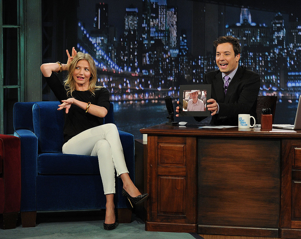 Cameron Diaz and Jimmy Fallon got silly on his show.