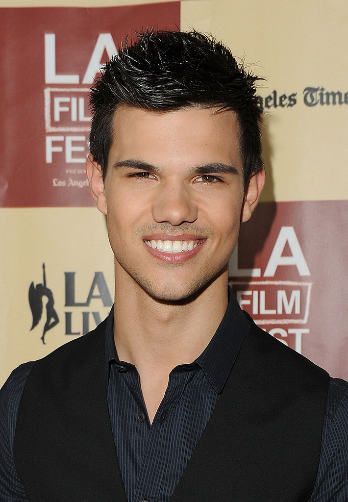 Taylor Lautner smiled big at the LA Film Festival.