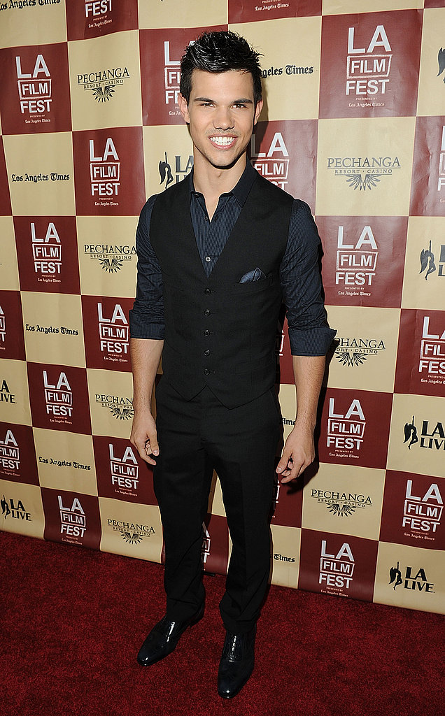 Taylor Lautner hit the red carpet in LA.