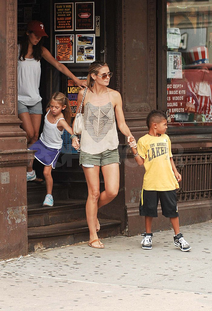 Heidi Klum made sure Leni and Henry stuck together.