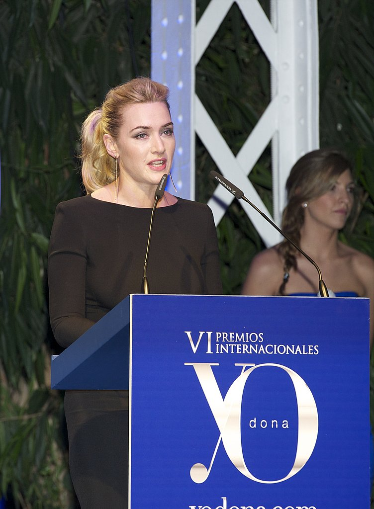 Kate Winslet took the mic at the Yo Dona Awards.