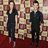 Kristen Stewart and Taylor Lautner Step Out to Support Summit