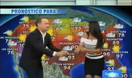 Watch Tom Hanks Move and Groove During a Spanish Weather Report!