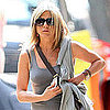 Jennifer Aniston Pictures in Sheer Skirt in NYC
