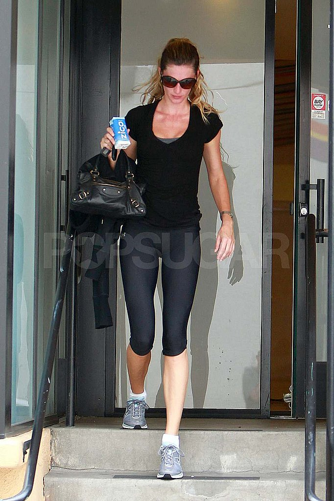 Gisele Bundchen Works Up a Sweat and Sips on Coconut Water
