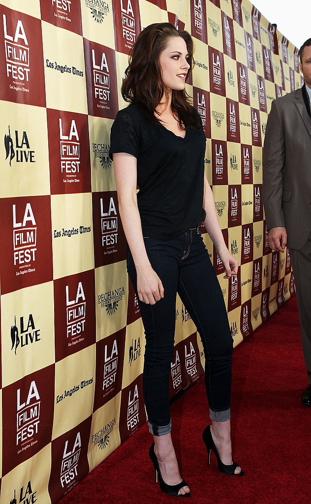 Kristen Stewart hit the LA Film Festival red carpet in Brian Atwood heels.