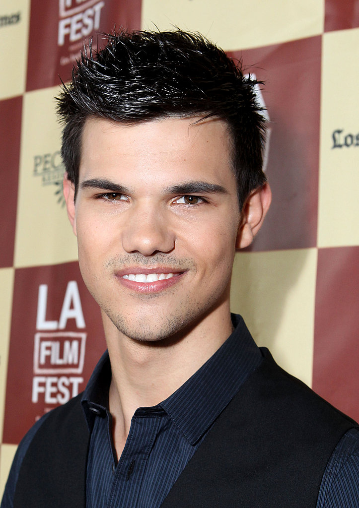Taylor Lautner wore a vest to the LA Film Festival.