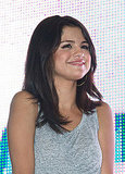 Selena Gomez smiled at fans.