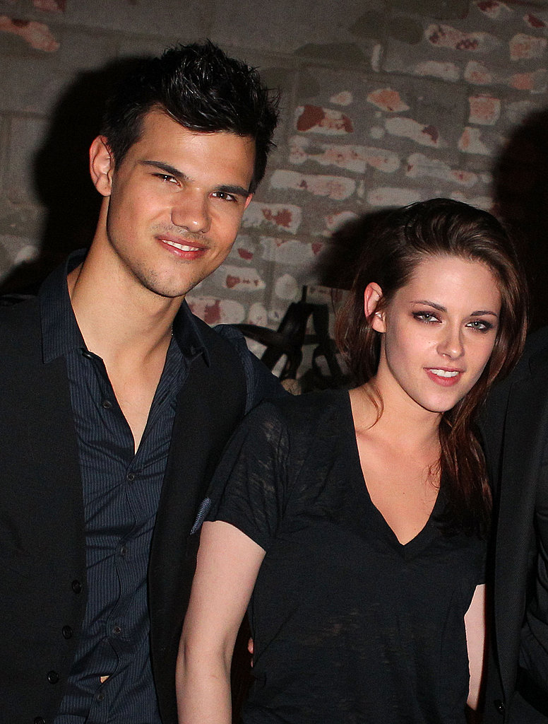 Kristen Stewart and Taylor Lautner got together to snap a picture at the LA Film Festival.