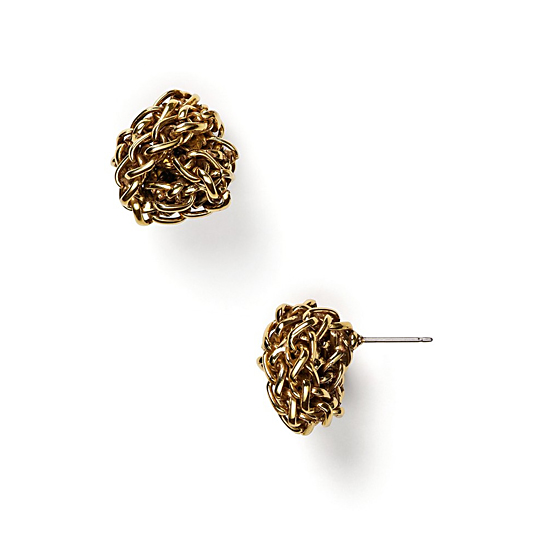 Lauren By Ralph Lauren Braided Knot Stud Earrings, $32