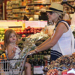 Pictures of Busy Philipps and Birdie at Whole Foods