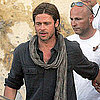 Brad Pitt Shooting World War Z in Malta Pictures With Zombies