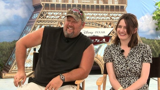 Video: Larry the Cable Guy and Emily Mortimer Share Cars 2 With Their Children and Talk About Their Onscreen Romance