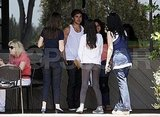 Zac Efron was surrounded by fans.