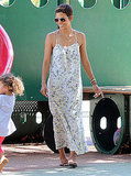 Halle Berry wore a Summer maxi dress.