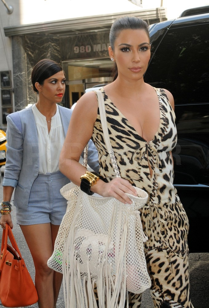 Kim and Kourtney Kardashian shopped in NYC.