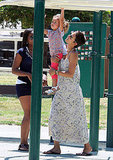 Halle Berry helped Nahla Aubry across the monkey bars.