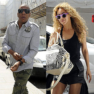 Jay-Z and Beyonce Knowles on a Helicopter Ride in London