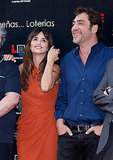 Penelope Cruz joined Javier Bardem for photos.