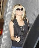 Jennifer Aniston wore a black vest in NYC.