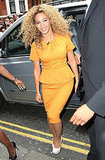 Beyoncé Knowles arrived at Harrod's.