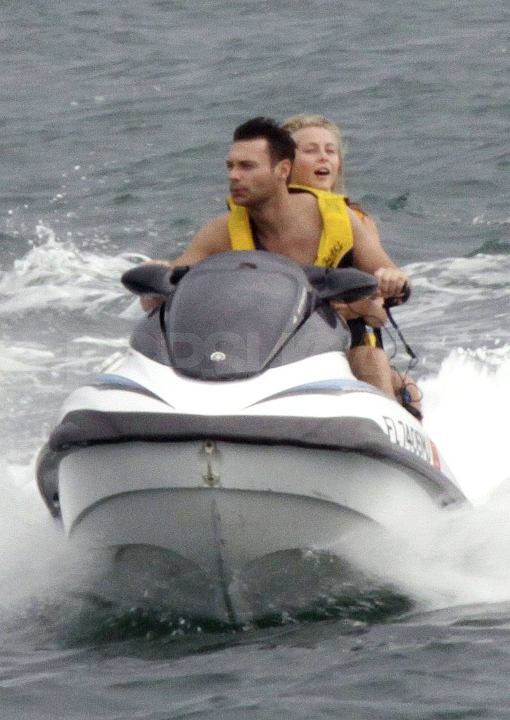 Ryan Seacrest and Julianne Hough jet-skiied together in the Miami waters.