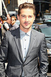 Shia LaBeouf buttoned up for his late-show appearance.