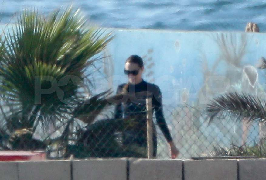 Angelina Jolie wore a wet suit in Malta.