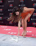 Penelope Cruz touched her star in Madrid.