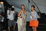 Kim and Kourtney Kardashian posed for cameras in NYC.