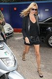 Kate Moss was in London the week before her wedding.