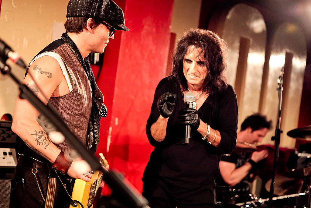Johnny Depp Rocks Out With Alice Cooper in London