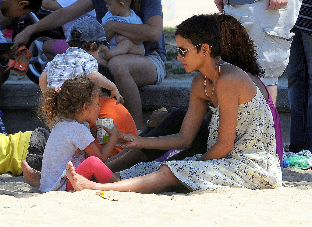 Halle Berry and Nahla Aubry shared a treat.