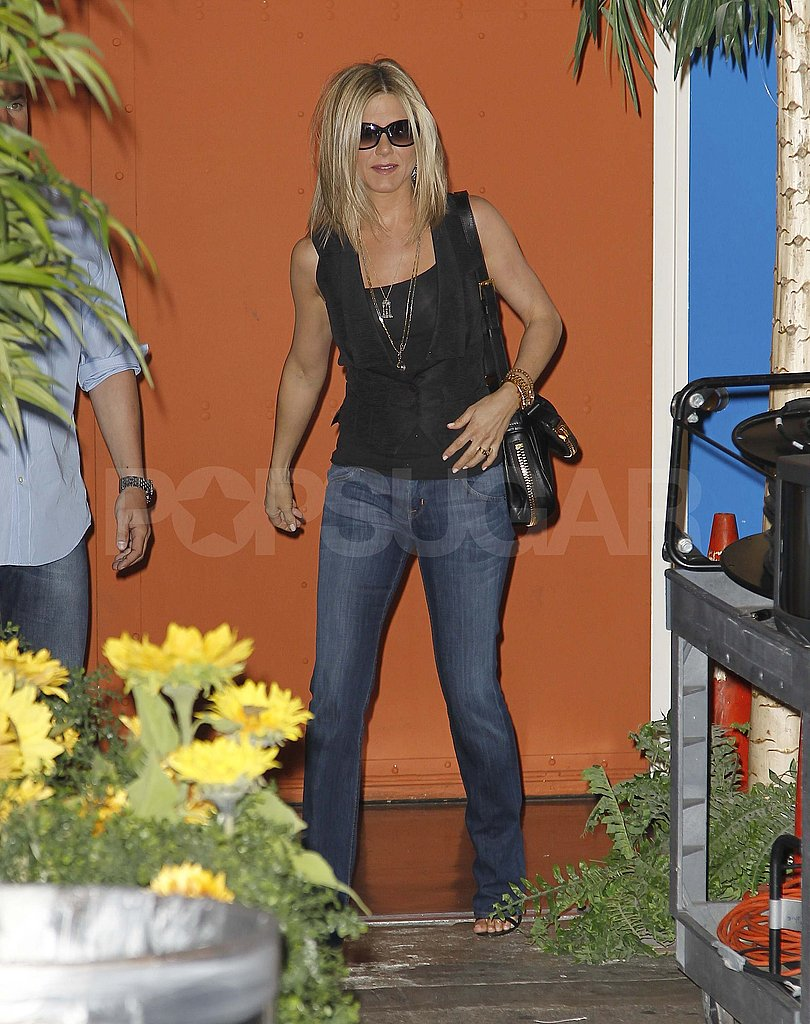 Jennifer Aniston kept her sunglasses on in NYC.