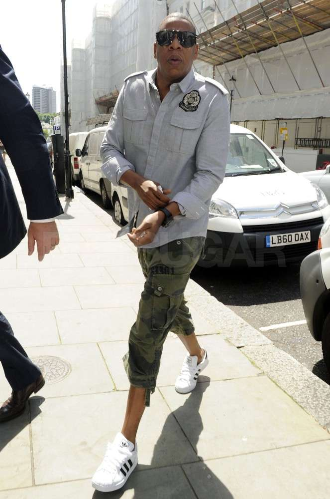 Jay-Z was ready for takeoff in London.