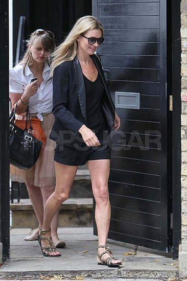 Kate Moss wore all black in London.