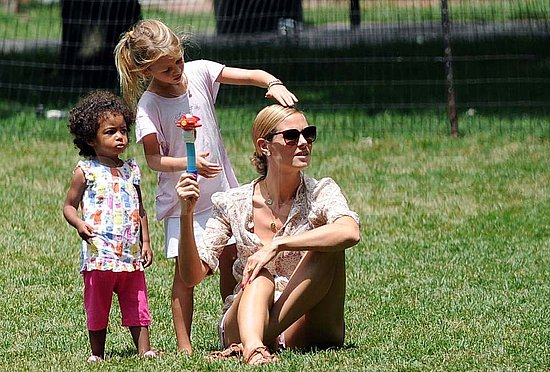 Heidi Klum Follows Up Her Sexy Project Runway Kickoff With a Bubbly Family Day at the Park
