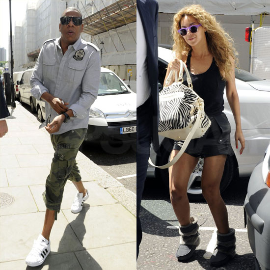 Beyoncé and Jay-Z Reunite For a Helicopter Ride Following a Busy Day Around London