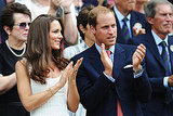 Prince William and Kate Middleton enjoy the tennis at Wimbledon.